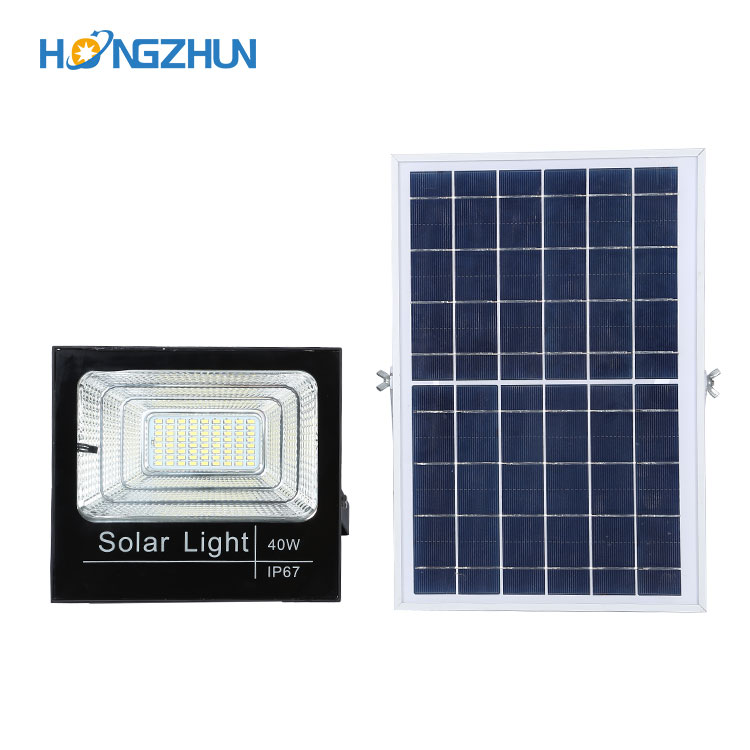 HZ-FTY-2X(40w)Print  IP67 glass solar flood light